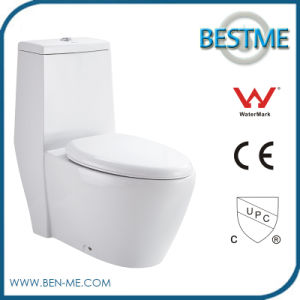 Economic Ceramic One Piece One-Piece Siphonic Toilet for Bathroom (BC-1310) pictures & photos