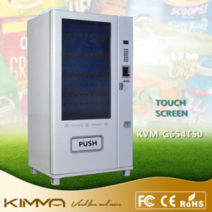 Full Range of Snacks 9 Columns Large Touch Screen Vending Machine Made in China pictures & photos