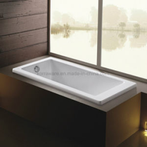 Rectangle Buili-in Simple Acrylic Bathtub (K1704) pictures & photos