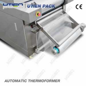 Thermoforming Chocolate Bean Nuts Vacuum Map Packing Machine in Rigid Film for Supper Deep Tray pictures & photos