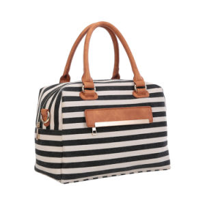Designer Casual Canvas Striped Duffle Ladies Bags (MBNO042105) pictures & photos