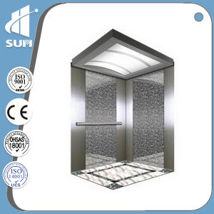 with Machine Room Hairline Stainless Steel Passenger Lift pictures & photos