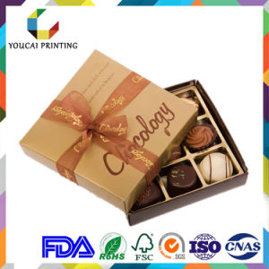 Luxury Chocolate Packaging Box with Grid Inlay pictures & photos