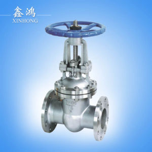 304 Stainless Steel Hight Quality Flanged Gate Valve Dn15 pictures & photos