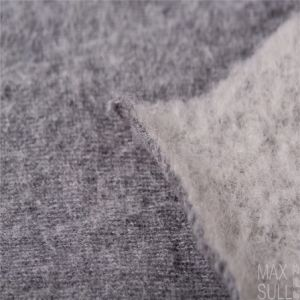 Wool/Cotton Fabric for Winter Coat in Two Sides Gray pictures & photos