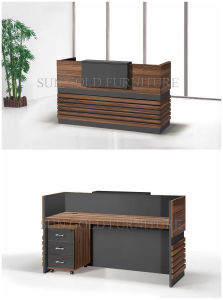 Popular Simple Wooden Front Office Counter Salon Reception Desk (SZ-RT056) pictures & photos