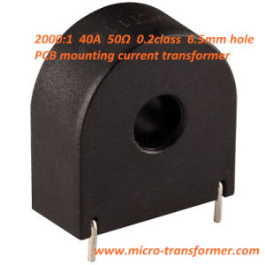 2000: 1 40A 50ohm 0.2calss 6.5mm Hole PCB Mounting Current Transformer pictures & photos