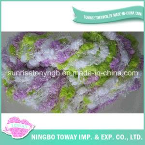 Fancy Super Bulky Color Pompom Roving Black Eyelash Fancy Yarn pictures & photos