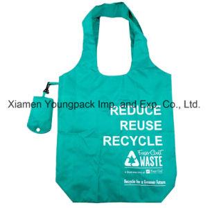 Promotional Custom Imprinted Fold Away Reusable Nylon Shopping Bag pictures & photos