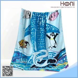 T-068 SGS Lovely Cartoon Printing Bath Towel for Kids
