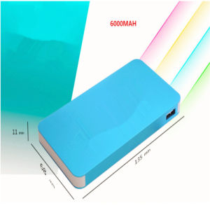 6000mAh Super Slim Power Bank Mobile Power Charger with 2 USB Ports pictures & photos