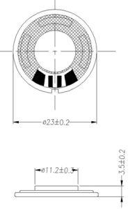 23mm 8ohm 16ohm 32ohm 0.25W 23mm RoHS Mini Speaker pictures & photos