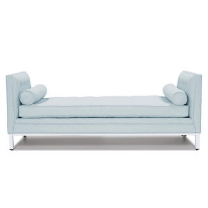 Modern Wood Frame End of Bed Foam Chaise Double End Bed End Stool with Pillows pictures & photos