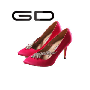 Customize Ladies Brand Shoes Pumps with High Heel pictures & photos