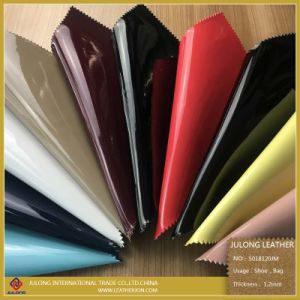 Customized Environmental Protection Popular Patent/Mirror PU Imitation Leather (S018120JM) pictures & photos