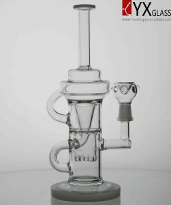 Glass Water Smoking Pipe Recycler Oil Rigs/Handblown Borosilicate Mini Beaker Recycler Smoking Glass Water Pipe/New Glass B Oil Rig Glass Water Pipe pictures & photos