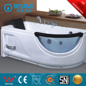 Acrylic Material Freestanding Corner Whirlpool Massage Bathtub (BT-A322) pictures & photos