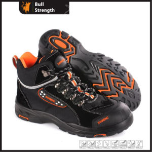 Cow Suede Leather Safety Shoes with New PU/Rubber Sole (SN5463) pictures & photos