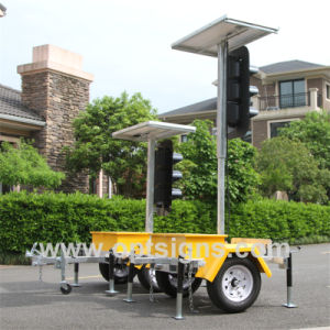 Optraffic Trailer Mounted Solar Powered Stop and Go LED Directional Traffic Signal Lights pictures & photos