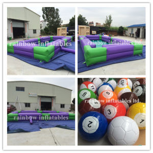 Giant Billiards Inflatable Snooker Ball Game/Outdoor Inflatable Snooker Pool for Snook Ball Game for Sale pictures & photos