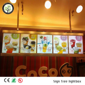 Full Color Slim Aluminum Advertising LED Backlit Light Box for Menu pictures & photos