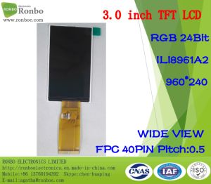 3.0 Inch 960X240 TFT LCD Panel, RGB 8bit, Ili8961A2, FPC 40pin pictures & photos