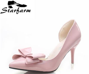 Bowknot Patent Leather High Heels for Women