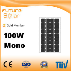 10 Yrs Warranty 100W Mono Solar Panel for Solar Homes pictures & photos