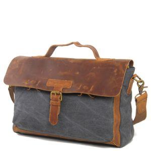 Canvas Man Patchwork Leather Handbag Bags (RS-2012DA) pictures & photos