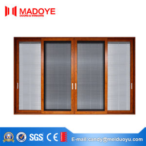 Modern Soundproof Aluminum Double Glass Sliding Door From China pictures & photos