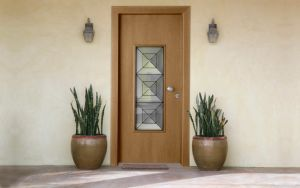 Decorative Glass Clipped Interior Solid Wood Door pictures & photos
