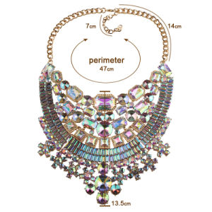 Fashion Colorful Full Rhinestone Diamond Crystal Designer Statement Choker Necklace Jewelry pictures & photos