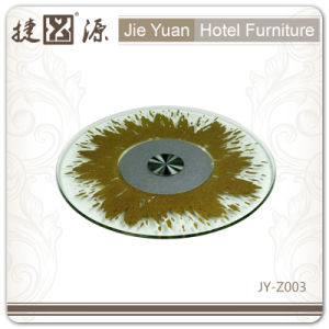 12mm Glass Hot Resistant Aluminum Base Lazy Susan (JY-Z003) pictures & photos