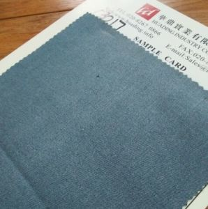 Light Blue Twill Jeans Fabric (C3017) pictures & photos