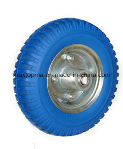 250-4 Solid Flat Free PU Foam Wheel pictures & photos