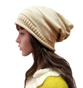 Women Fashion Acrylic Knitted Winter Warm Beanie Hat (YKY3124) pictures & photos