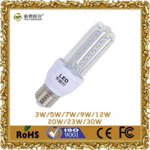 360 Degree 5W U-Shaped LED Corn Light with E27 Base