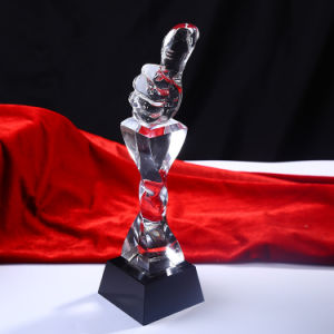 Crystal Hand Trophy High Quality Crystal Trophy pictures & photos