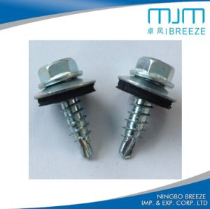 High-Low Threaded Hex Head Countersunk Flat Head Concrete Screw with Ruspert Coating pictures & photos
