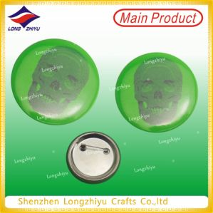 Green Printing Tinplate Badge Lapel Pin Printed Tinplate pictures & photos