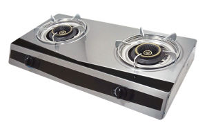 Stainless Steel Table Top 2 Burner Gas Cooker Jp-Gc200 pictures & photos