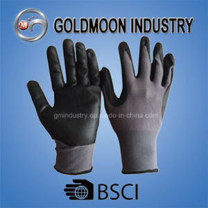 15 Gauge Liner, Palm Coating Micro-Foam Nitrile Safety Work Glove pictures & photos