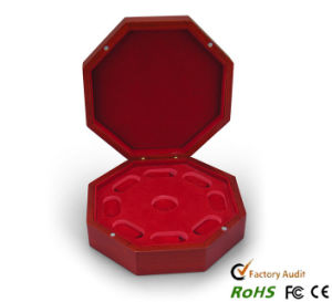 Octangle Golden Coins Showing Wooden Box pictures & photos