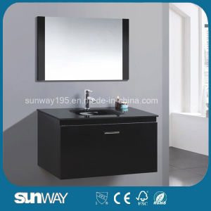 Newest European Furniture MDF Bathroom Vanity with Mirror pictures & photos