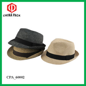 Paper Braid Fdora Hats with Ribbon for Men (CPA_60002) pictures & photos