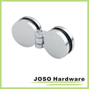 180 Degree Round Shape Brass Glass Bifold Hinge for Bathroom pictures & photos