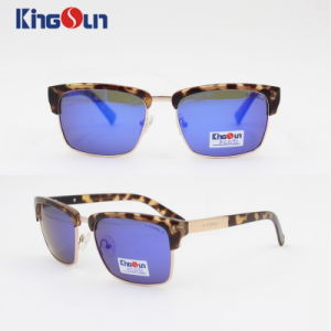 Unisex Fashion Sunglasses Metal and Acetate Combined Mirror Coating pictures & photos