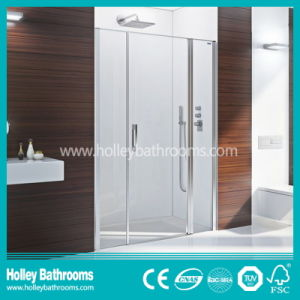 Compact Walking in Shower Screen Mounted on Floor (SB202N)