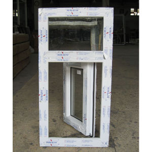 White Colour UPVC Profile Casement Window with Fix Pane K02008 pictures & photos