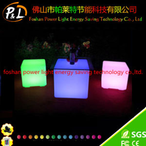 Light Cube Shape LED Colorful Plastic Stool pictures & photos